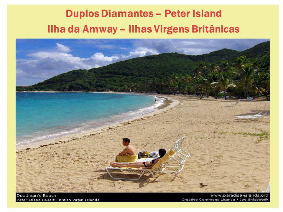 34 Duplos Diamantes – Peter Island Ilha da Amway – Ilhas Virgens Britânicas