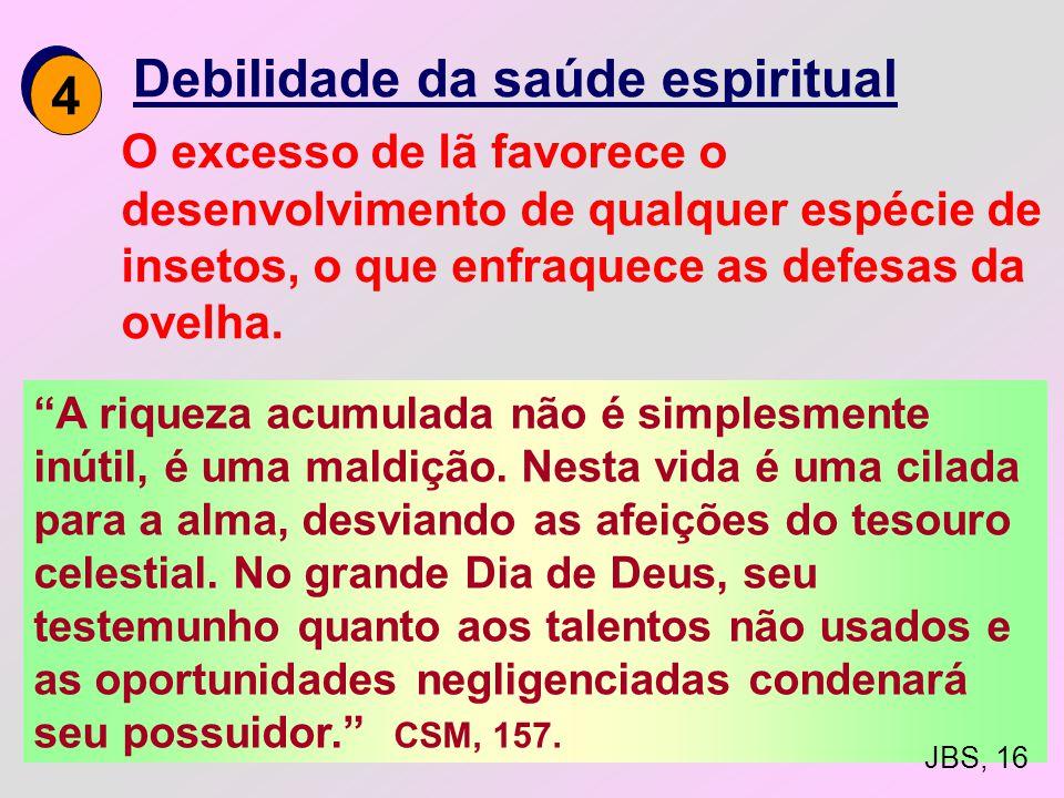 3 3 Perda da qualidade da vida espiritual é esse crescente devotamento a ganhar dinheiro, o egoísmo que o desejo de ganhar produz, que mata a espiritu