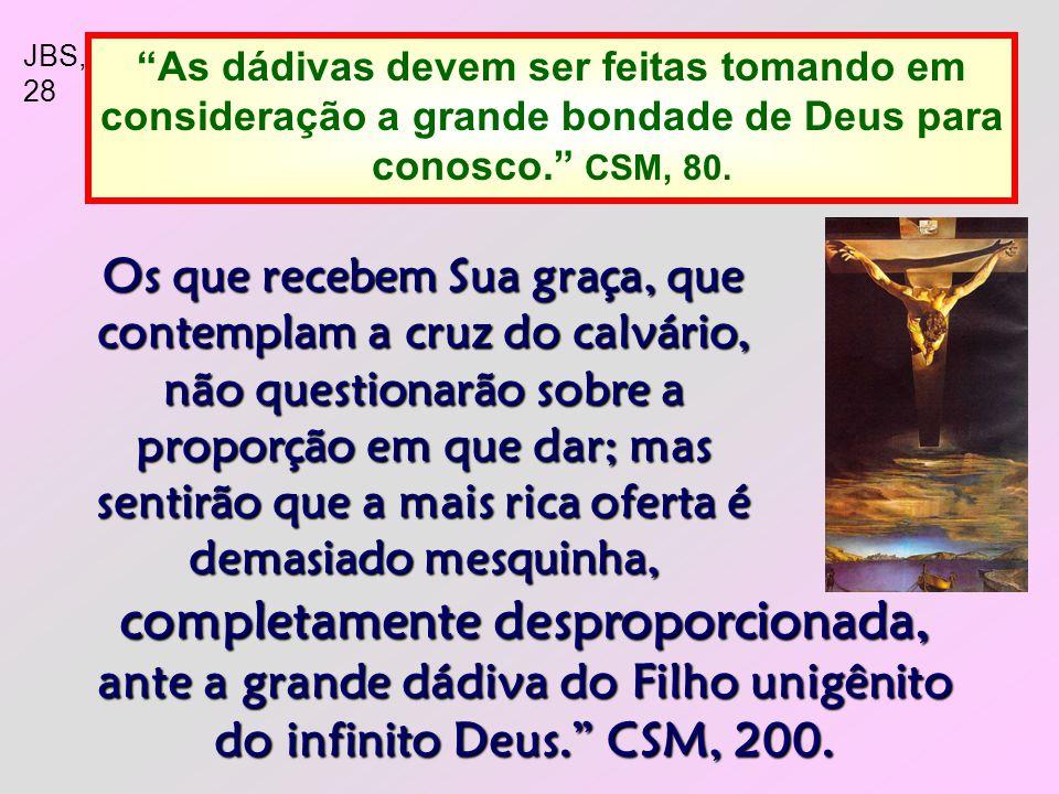 2 Que sejamos fiéis e liberais nas ofertas: Cada um contribua segundo tiver proposto no coração, não com tristeza ou por necessidade; porque Deus ama