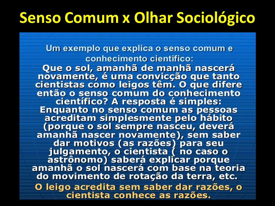 PROCESSO DE DESNATURALIZAÇÃO Para desenvolvermos um olhar sociológico precisamos mudar nossa forma de encarar a realidade a nosso redor.
