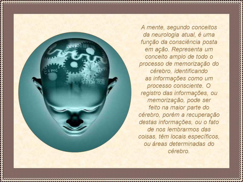 A mente, segundo conceitos da neurologia atual, é uma função da consciência posta em ação.