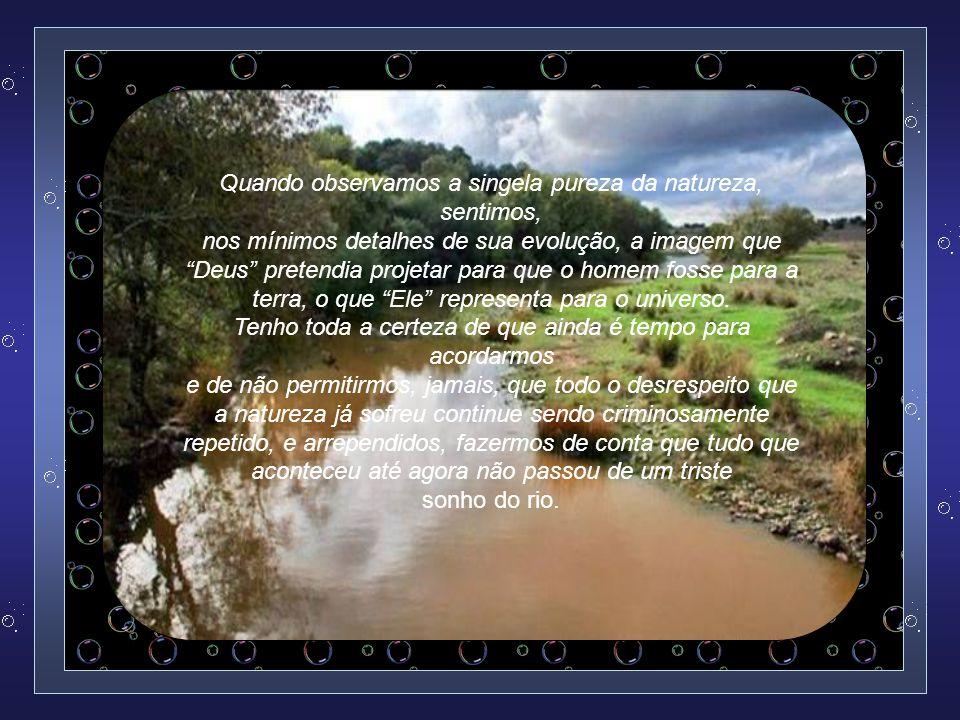 Atualmente, considera-se que não existe um só rio no mundo que não esteja transformado num depósito de substâncias tóxicas.
