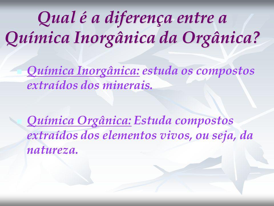 Qual é a diferença entre a Química Inorgânica da Orgânica.