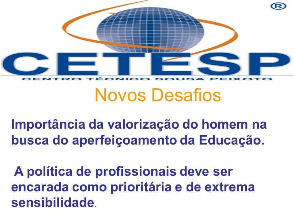 Novos Desafios Importância da valorização do homem na busca do aperfeiçoamento da Educação.