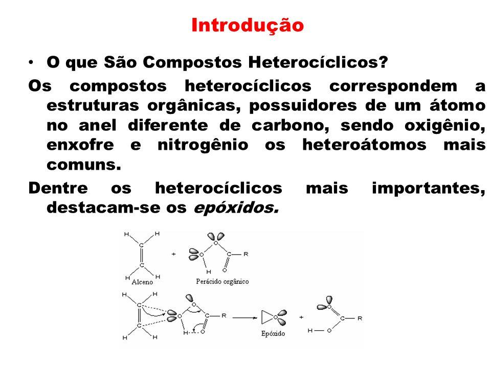 Introdução O que São Compostos Heterocíclicos? Os compostos heterocíclicos correspondem a estruturas orgânicas, possuidores de um átomo no anel difere