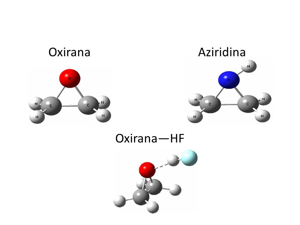 Comparação de Resultados MoléculaB3LYP/6-311++G(d,p) (Mulliken) (O) AM1 (Mulliken) (O) C2H4OC2H4O-0.197110-0.265364 C 2 H 4 O-HF-0.266477-0.297702
