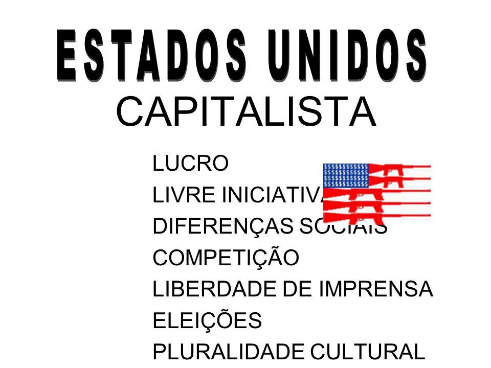 CAPITALISTA LUCRO LIVRE INICIATIVA DIFERENÇAS SOCIAIS COMPETIÇÃO LIBERDADE DE IMPRENSA ELEIÇÕES PLURALIDADE CULTURAL