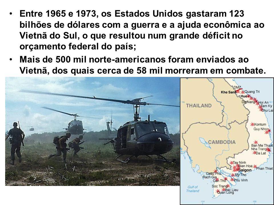 Entre 1965 e 1973, os Estados Unidos gastaram 123 bilhões de dólares com a guerra e a ajuda econômica ao Vietnã do Sul, o que resultou num grande défi