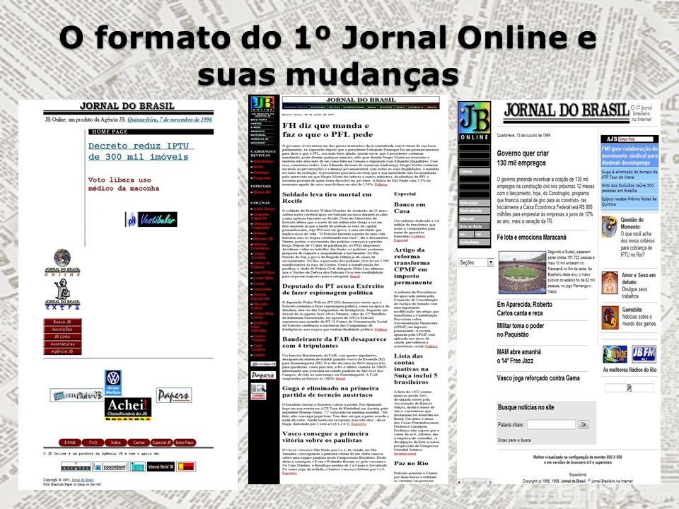 O formato do 1º Jornal Online e suas mudanças