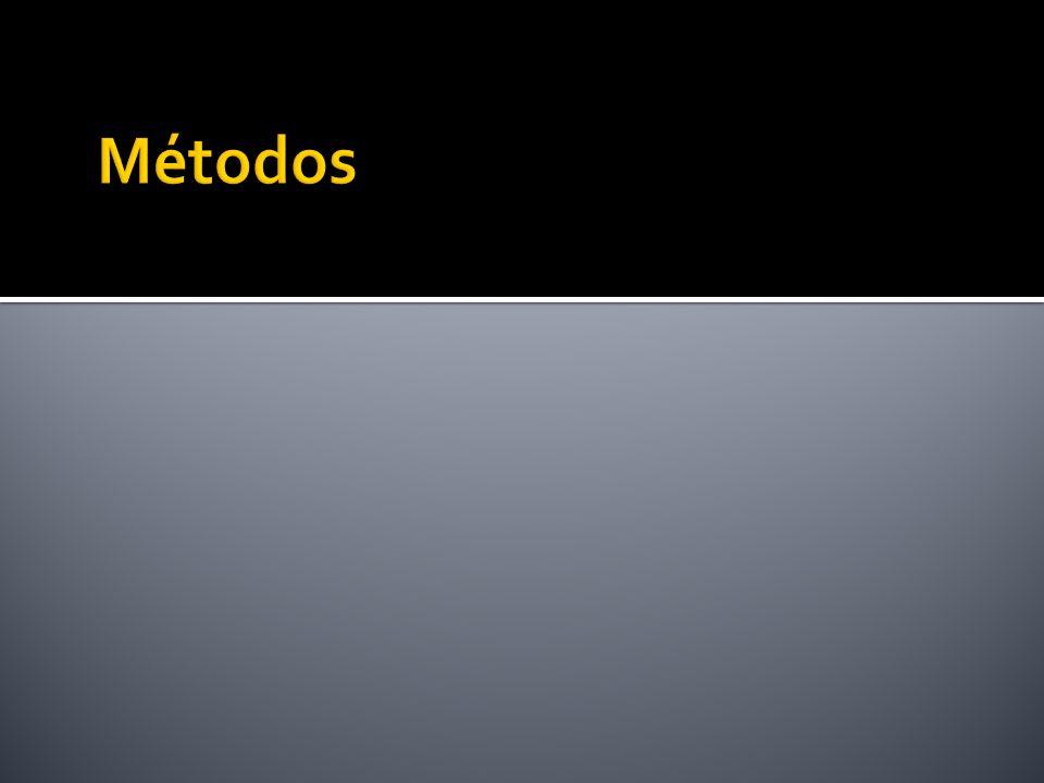 Programas associados aos tipos que fazem computações e podem ter acesso aos atributos do tipo Tipos de métodos Member Static Constructor Comparison (Map e Order)