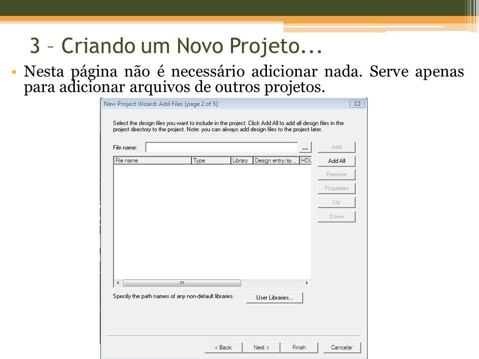 Nesta página não é necessário adicionar nada. Serve apenas para adicionar arquivos de outros projetos.