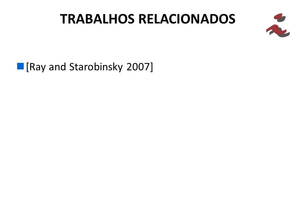 [Ray and Starobinsky 2007] TRABALHOS RELACIONADOS
