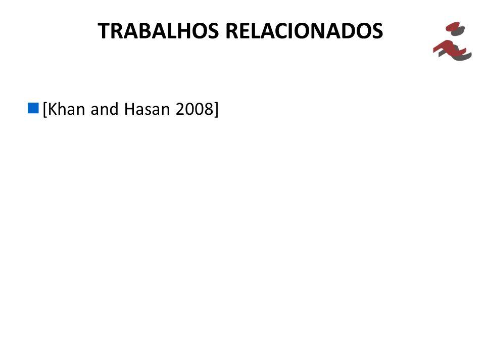 [Khan and Hasan 2008] TRABALHOS RELACIONADOS