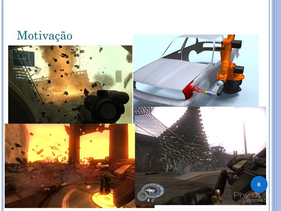 Motivação - Vídeos Nesses videos estão exemplos do uso do Physx em algumas aplicações http://www.youtube.com/watch?v=UQtjY-Q2BB8 http://www.youtube.com/watch?v=dZ1PPzCyNcg 77