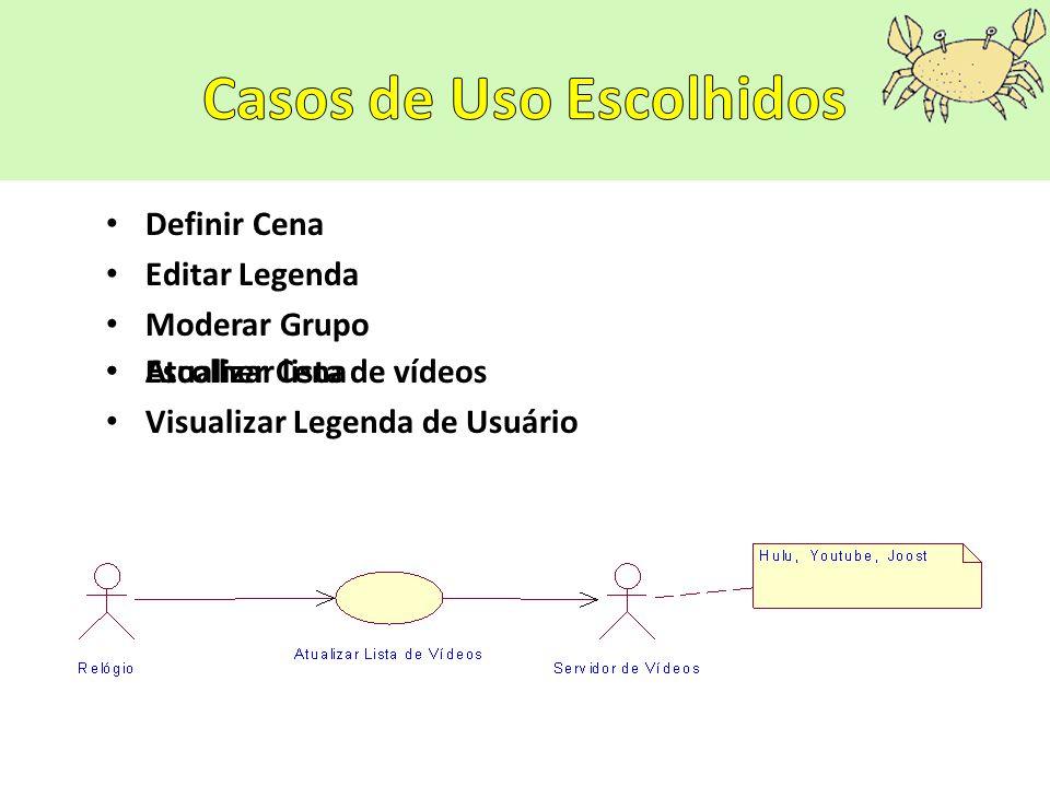 Definir Cena Editar Legenda Moderar Grupo Escolher Cena Visualizar Legenda de Usuário Atualizar lista de vídeos