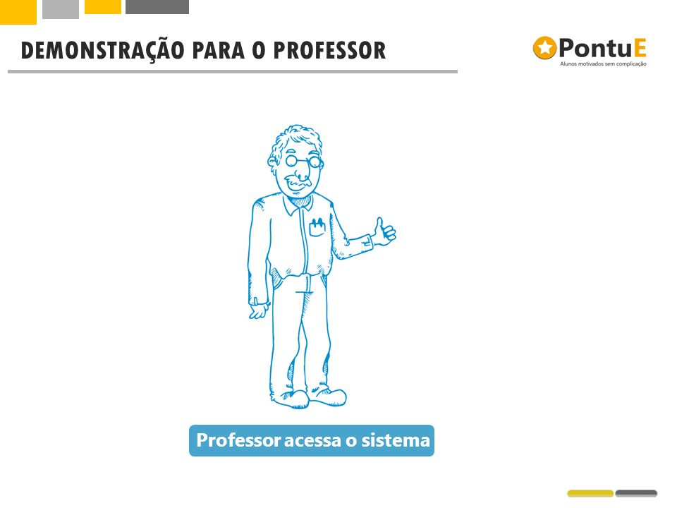 Professor acessa o sistema DEMONSTRAÇÃO PARA O PROFESSOR