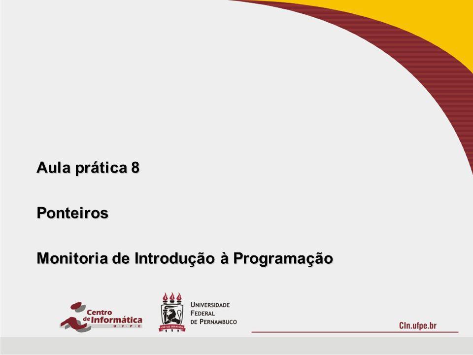 Roteiro Ponteiros Ponteiros –Definição.–Operadores.