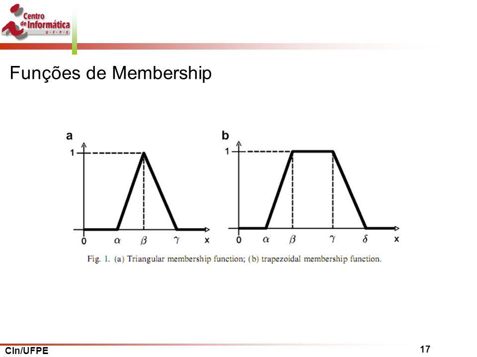 CIn/UFPE 17 Funções de Membership