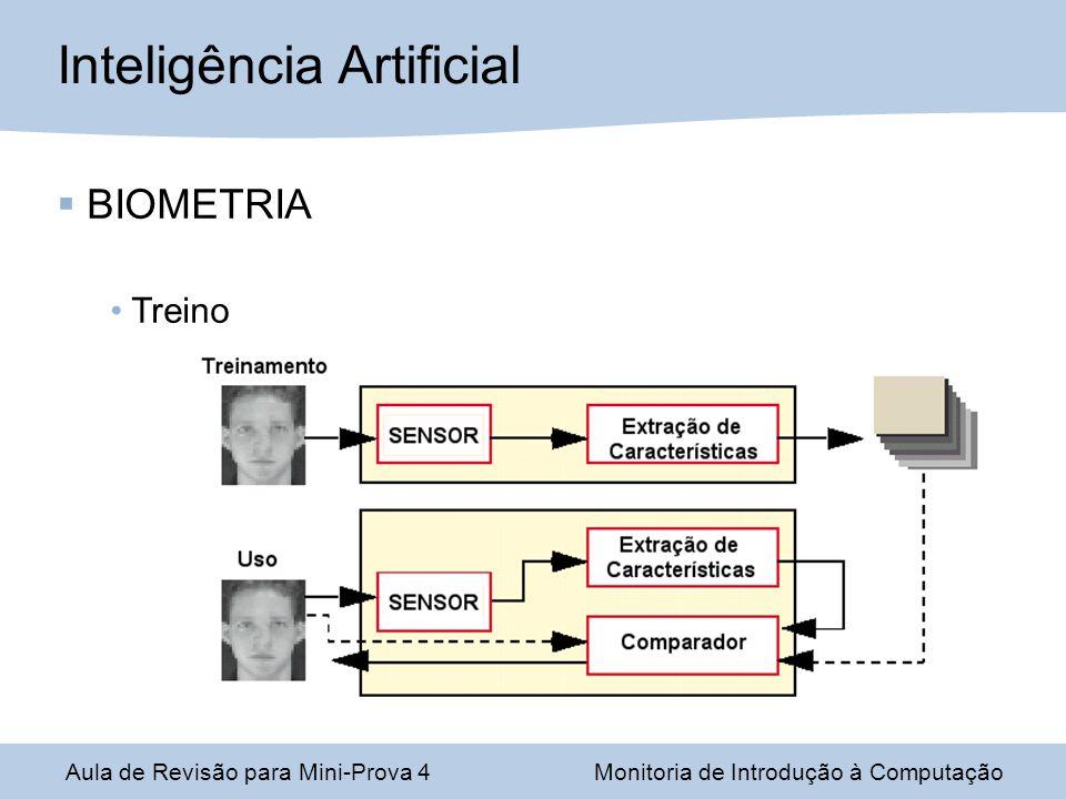 Aula de Revisão para Mini-Prova 4Monitoria de Introdução à Computação Inteligência Artificial BIOMETRIA Treino
