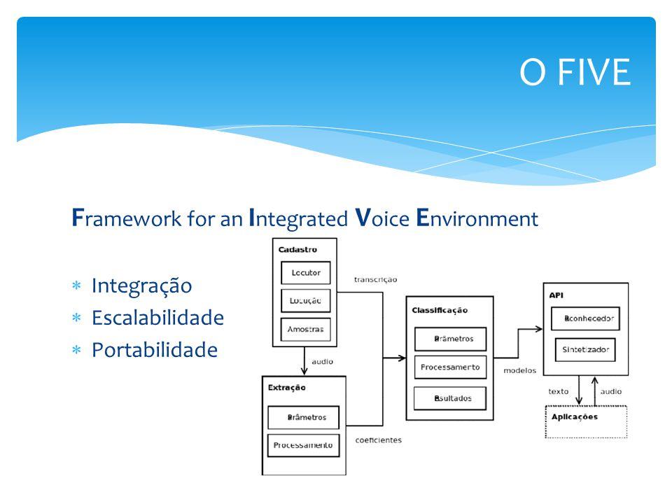 F ramework for an I ntegrated V oice E nvironment Integração Escalabilidade Portabilidade O FIVE