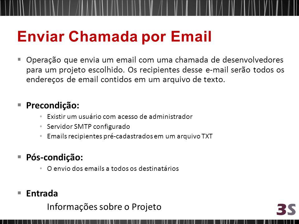 Operação que envia um email com uma chamada de desenvolvedores para um projeto escolhido.