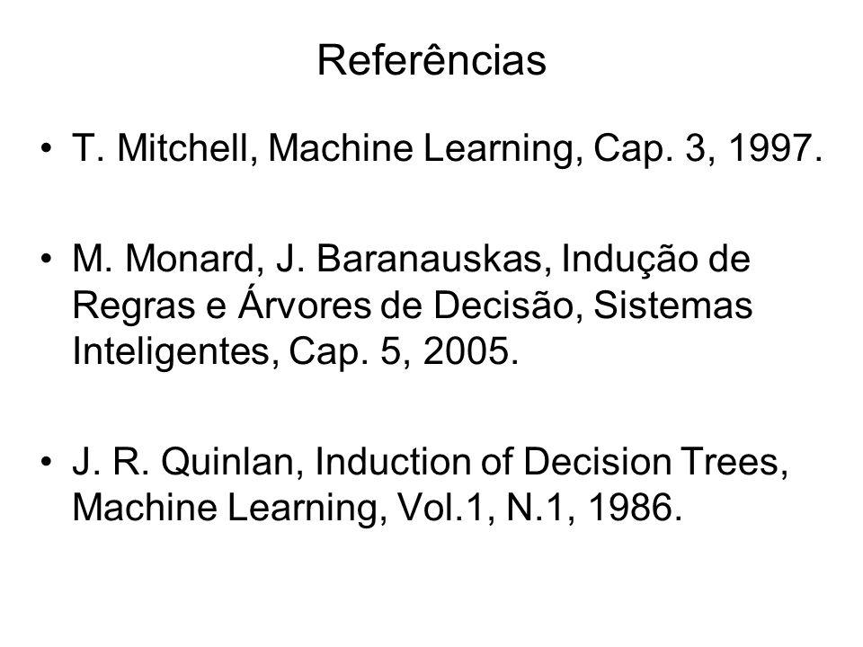 T.Mitchell, Machine Learning, Cap. 3, 1997. M. Monard, J.
