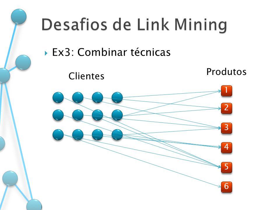Ex3: Combinar técnicas 1 1 2 2 3 3 4 4 5 5 6 6 Clientes Produtos