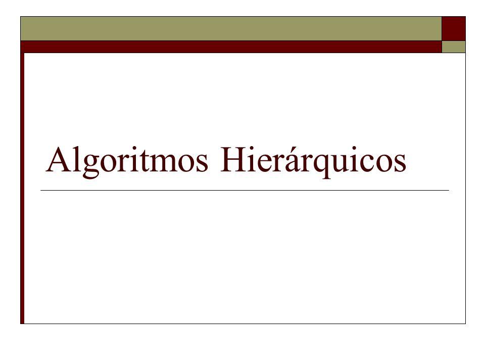 Algoritmos Hierárquicos