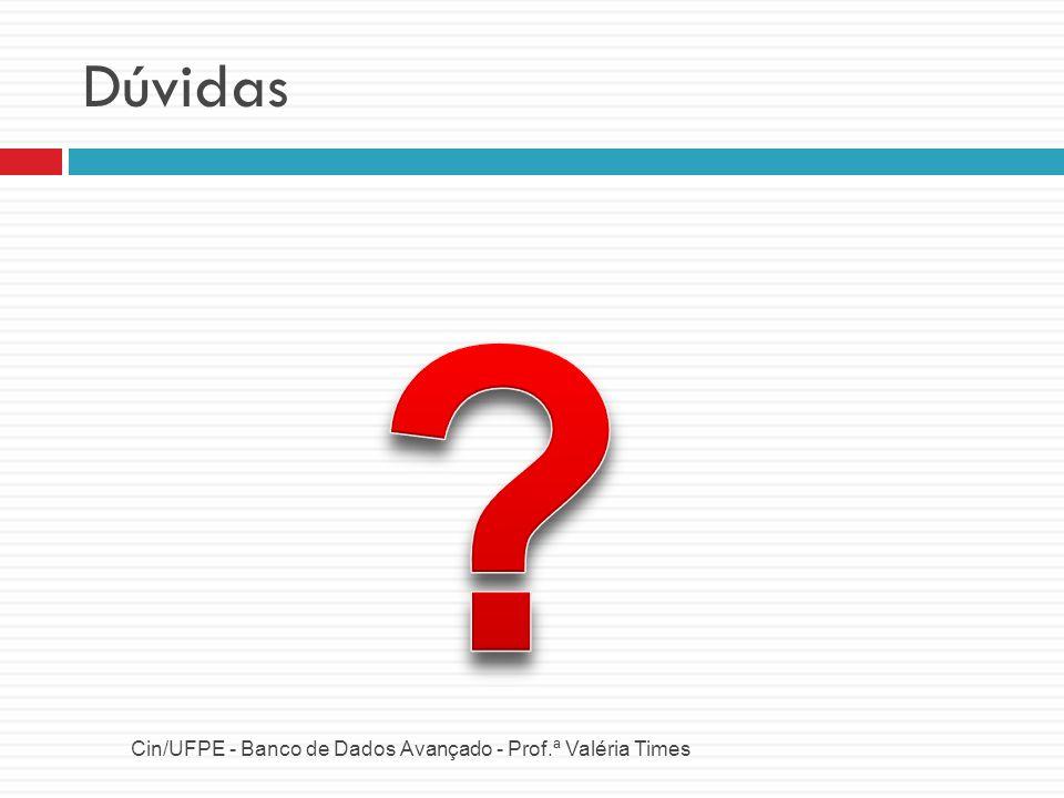 Dúvidas Cin/UFPE - Banco de Dados Avançado - Prof.ª Valéria Times