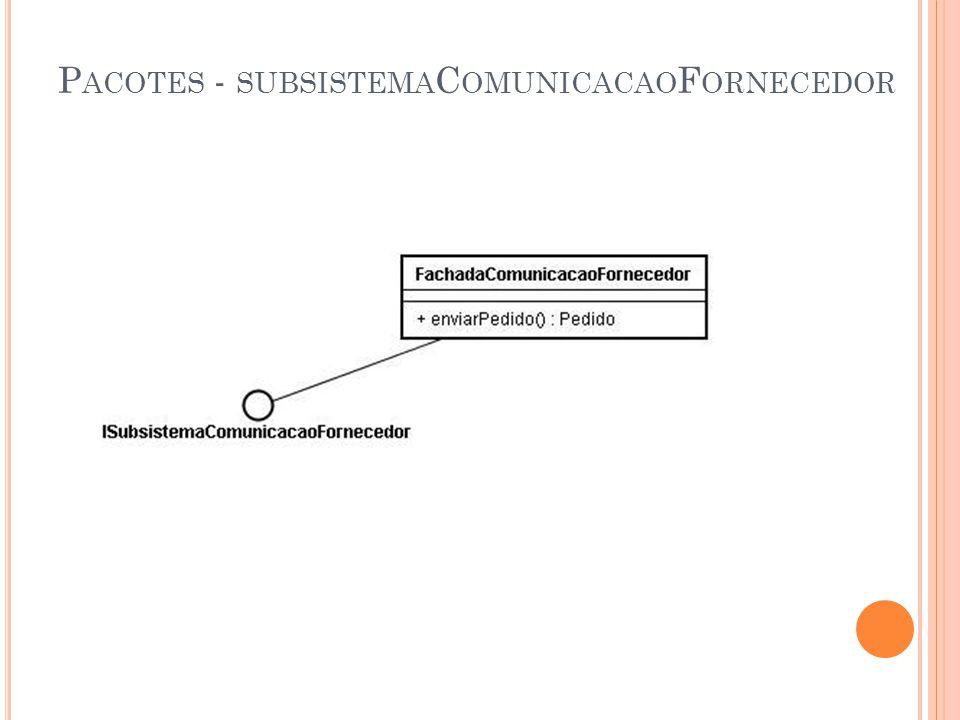 P ACOTES - SUBSISTEMA C OMUNICACAO F ORNECEDOR