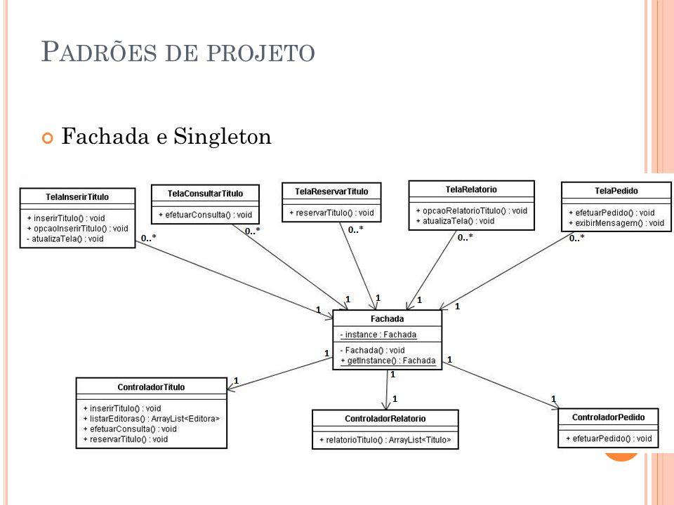 P ADRÕES DE PROJETO Fachada e Singleton