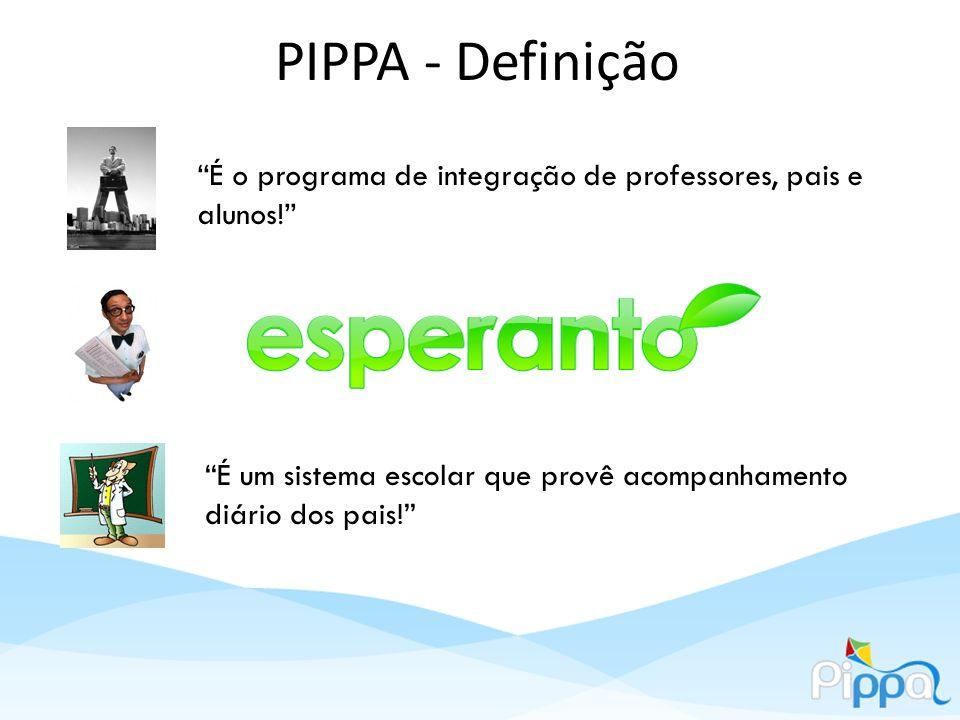 PIPPA - Definição O Programa de integração de professores, pais e alunos é uma rede social escolar na web formada por esses usuários, que provê acompanhamento diário dos pais.