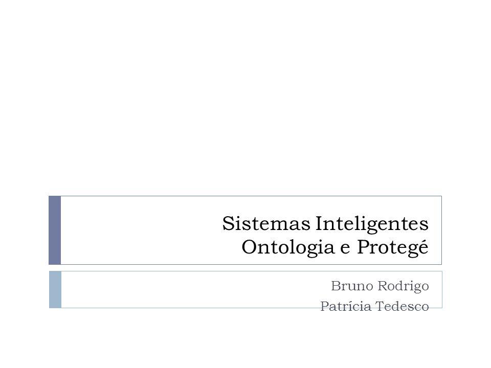 Sistemas Inteligentes Ontologia e Protegé Bruno Rodrigo Patrícia Tedesco