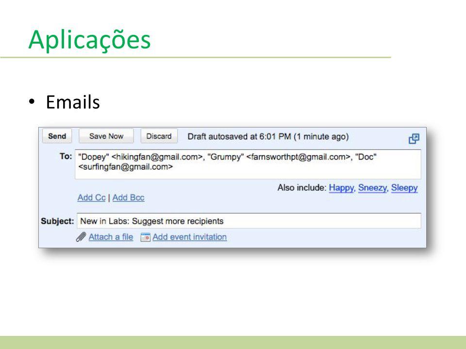 Aplicações Emails