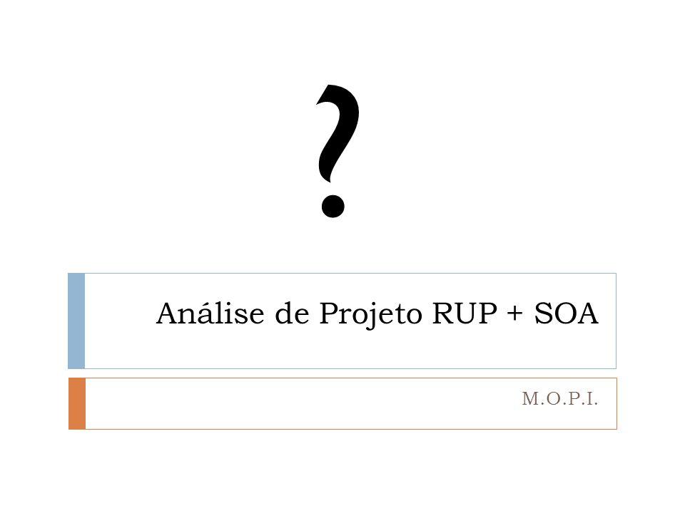 Análise de Projeto RUP + SOA M.O.P.I. ?