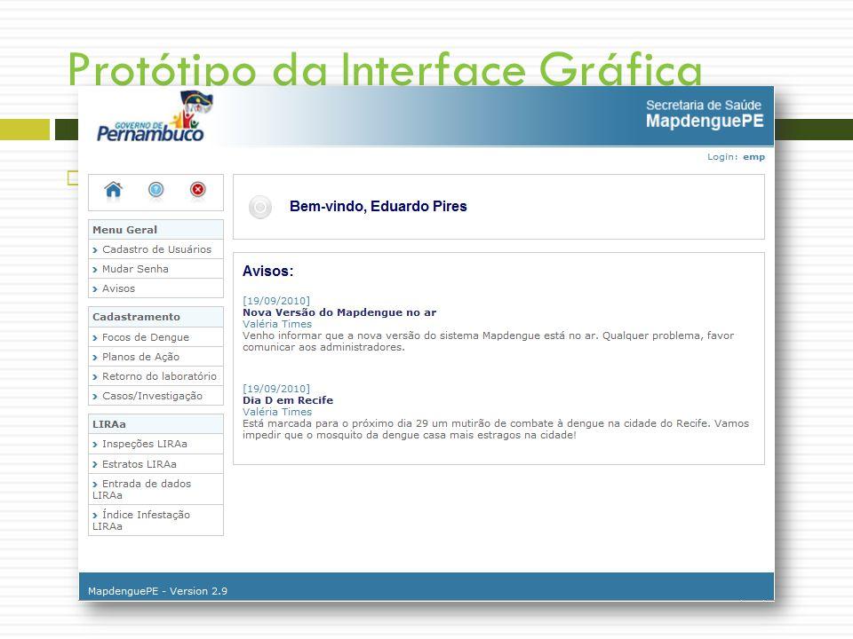 Protótipo da Interface Gráfica Tela - Últimos Avisos