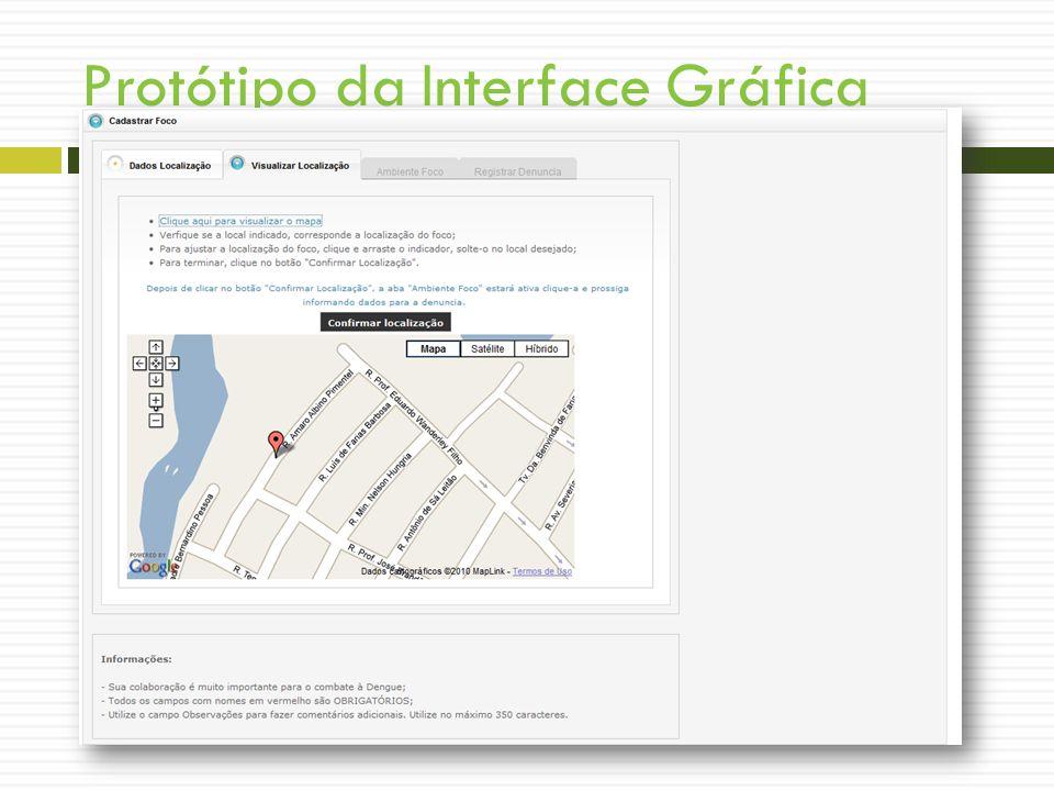 Protótipo da Interface Gráfica Tela – Denunciar Foco – Parte 2 WIREFRAMES!!!