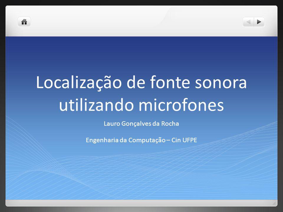 Localização de fonte sonora utilizando microfones Lauro Gonçalves da Rocha Engenharia da Computação – Cin UFPE