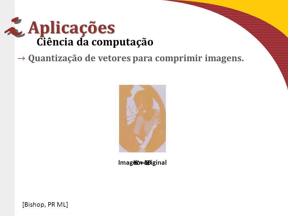 Aplicações Quantização de vetores para comprimir imagens.