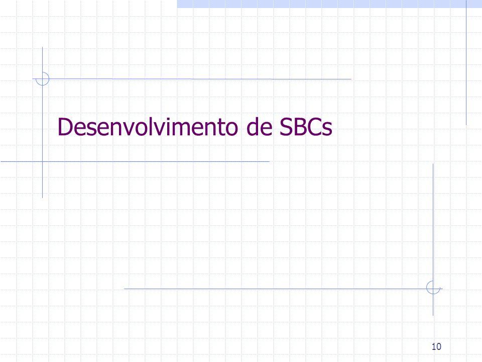 10 Desenvolvimento de SBCs