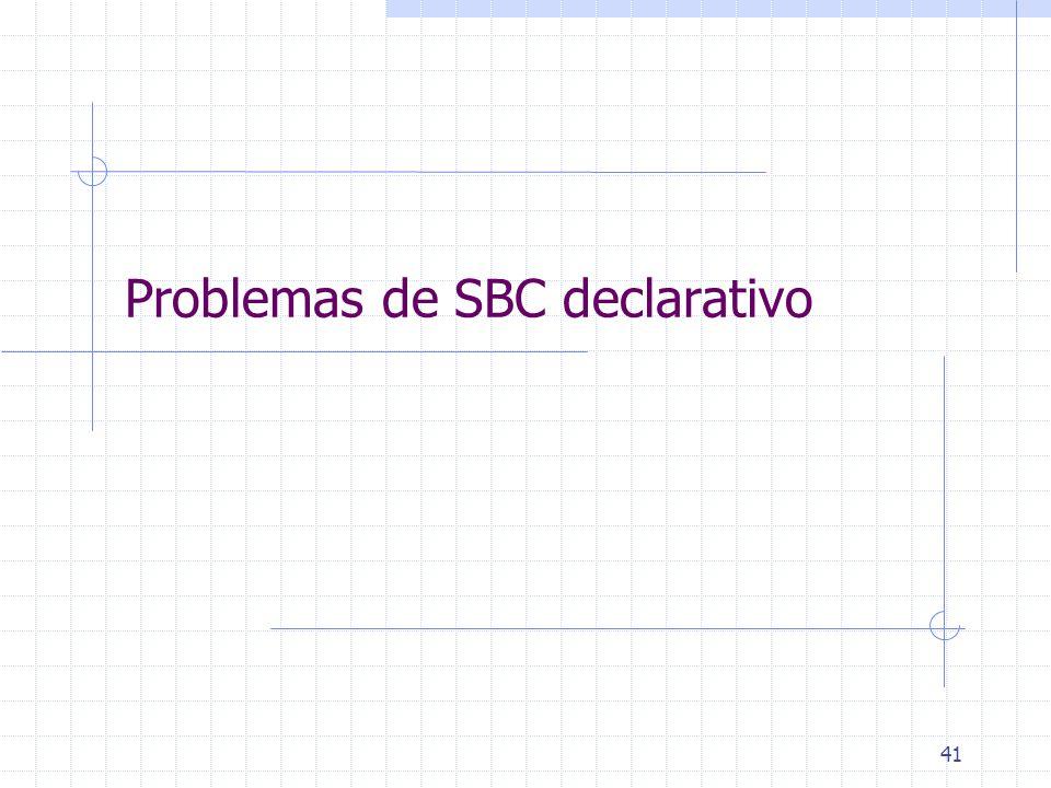 41 Problemas de SBC declarativo