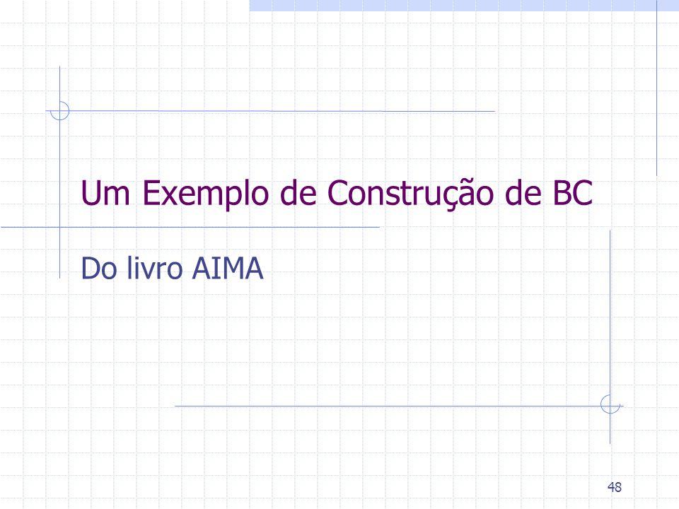 48 Um Exemplo de Construção de BC Do livro AIMA