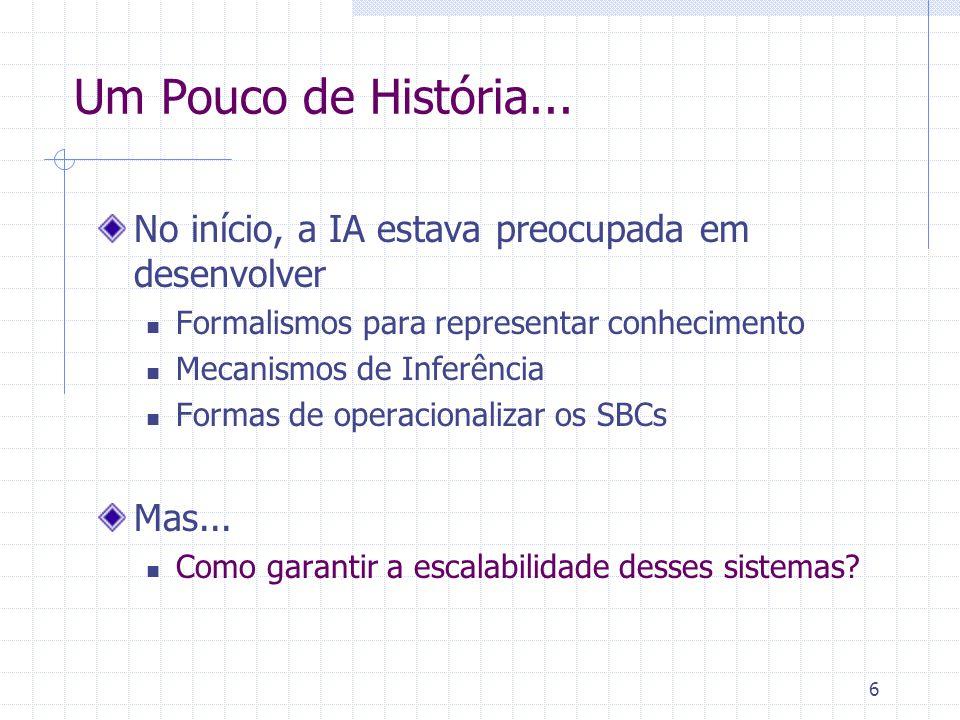 27 Formalização do conhecimento Representação formal = LPO Representação semi-formal = Ontologias