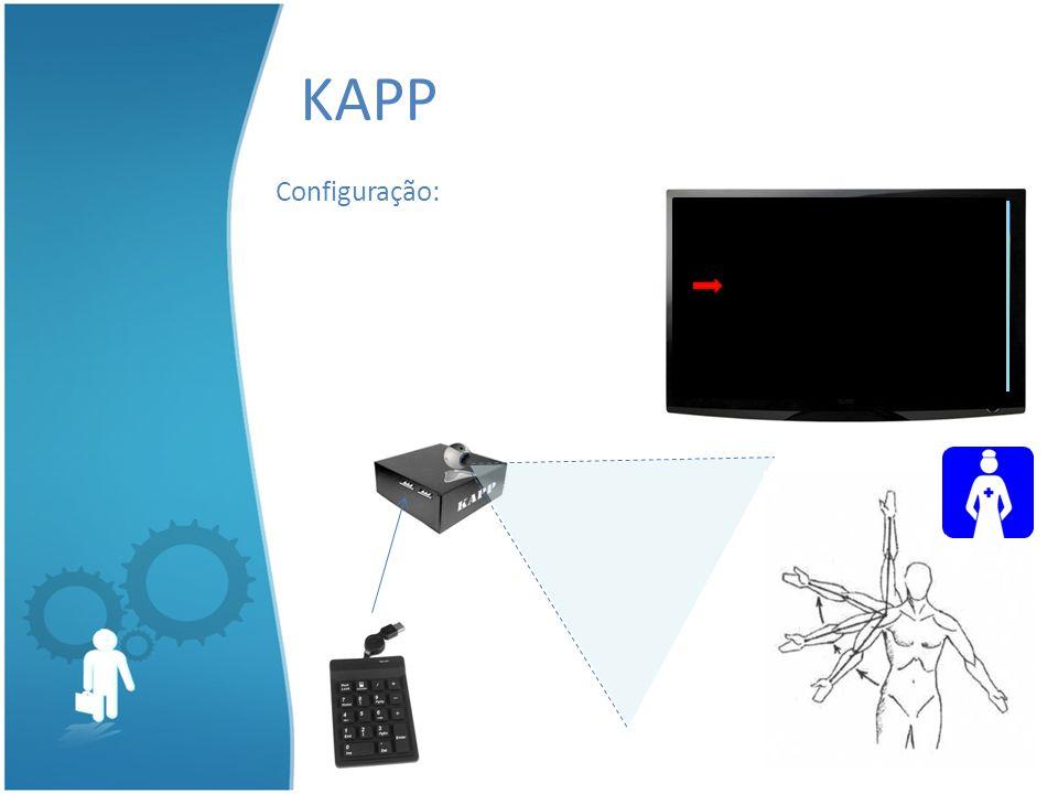 KAPP Configuração: Pressione qualquer tecla para configurar. 98765 Pular Descer Configurações