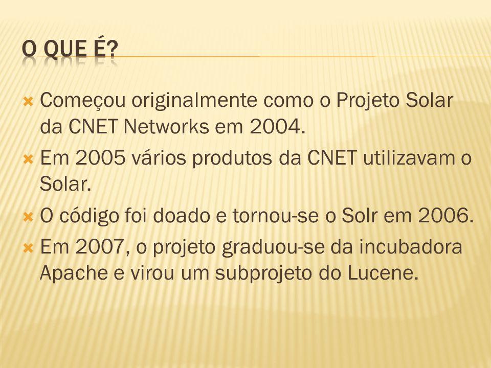 Começou originalmente como o Projeto Solar da CNET Networks em 2004. Em 2005 vários produtos da CNET utilizavam o Solar. O código foi doado e tornou-s