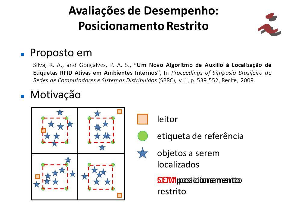 Avaliações de Desempenho: Posicionamento Restrito Proposto em Silva, R. A., and Gonçalves, P. A. S., Um Novo Algoritmo de Auxílio à Localização de Eti