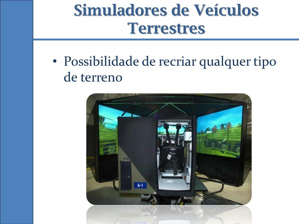 Simuladores de Veículos Terrestres Possibilidade de recriar qualquer tipo de terreno