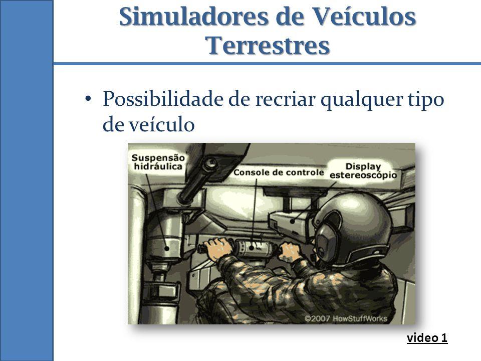 Simuladores de Veículos Terrestres Possibilidade de recriar qualquer tipo de veículo video 1
