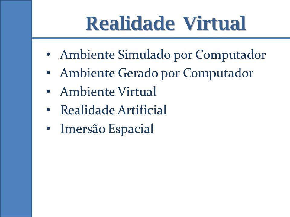 Realidade Virtual Ambiente Simulado por Computador Ambiente Gerado por Computador Ambiente Virtual Realidade Artificial Imersão Espacial