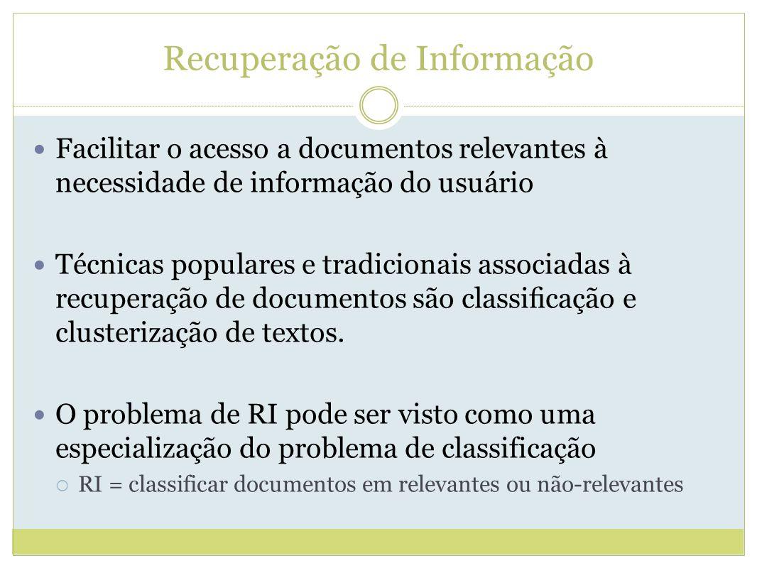 Referências BAEZA-YATES, R.A.; RIBEIRO-NETO, B. Modern information retrieval.